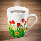"""Kaffeetasse """"Tulpen"""" Basilico"""