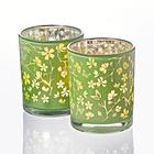 Teelicht-Glas grün