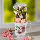 """1 Tasse """"Orchidee"""" mit Kokosflocken"""