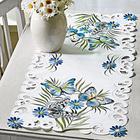 """Tischläufer """"Schmetterlinge"""" blau Casa Bonita 40 x 90 cm"""