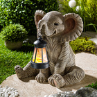 Elefant mit Solar-Laterne