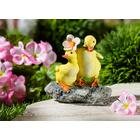 Entenpaar mit Blume