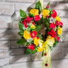 Blumenkranz mit Marienkäfern