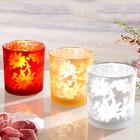 Teelichtglas rot