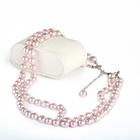 Perlenkette 2-reihig, fliederfarben