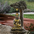 """Solarleuchte """"Buddha unterm Baum"""""""