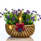 Solar-Blumenkorb