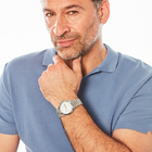 Herren-Armbanduhr, silberfarben