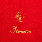 """Handtuch """"Skorpion"""" rot"""