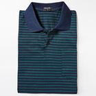 Poloshirt blau-grün gestreift