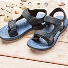 Sandale Jürgen, schwarz/blau