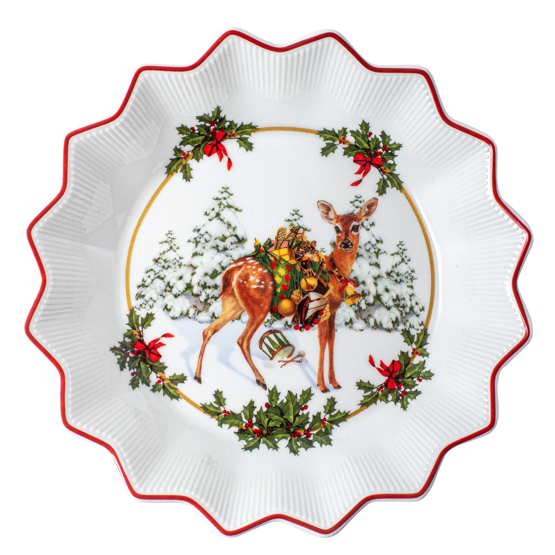 Sammelteller mit Weihnachtsmotiv