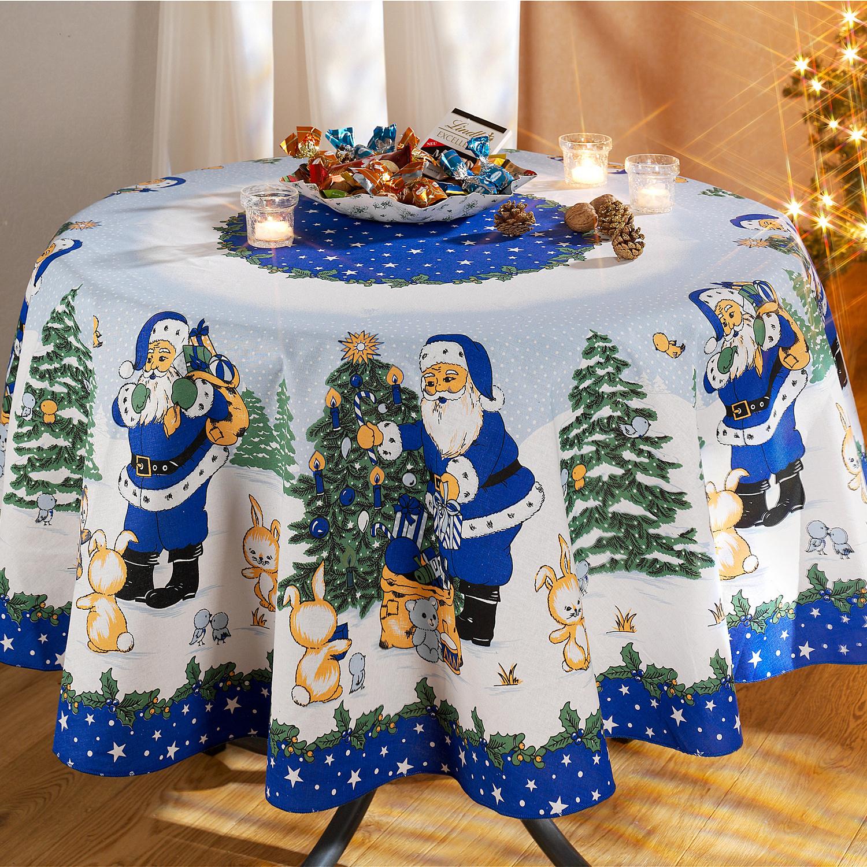 новогодние скатерти как украсить стол на новый год